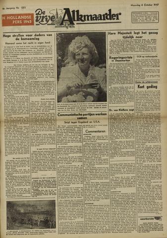 De Vrije Alkmaarder 1947-10-06