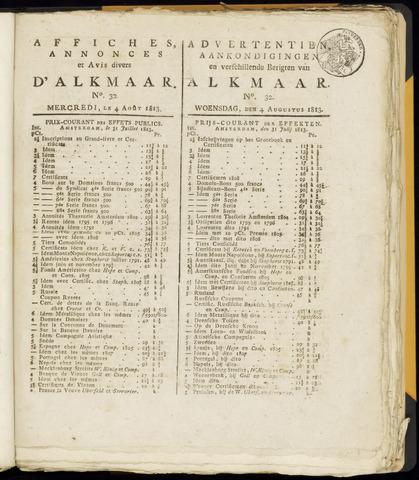 Alkmaarsche Courant 1813-08-04