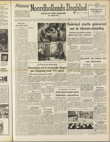Nieuw Noordhollandsch Dagblad : voor Alkmaar en omgeving 1951-10-03