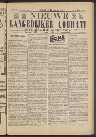 Nieuwe Langedijker Courant 1929-09-24