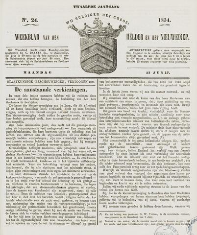 Weekblad van Den Helder en het Nieuwediep 1854-06-12