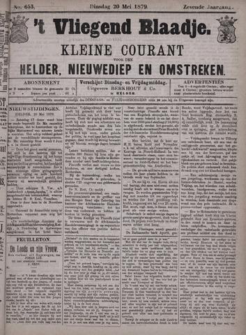 Vliegend blaadje : nieuws- en advertentiebode voor Den Helder 1879-05-20