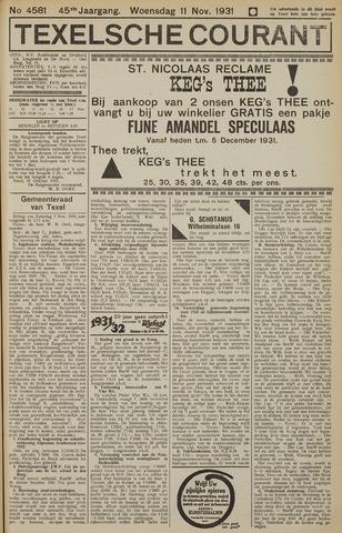 Texelsche Courant 1931-11-11