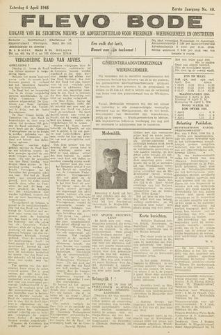 Flevo-bode: nieuwsblad voor Wieringen-Wieringermeer 1946-04-06