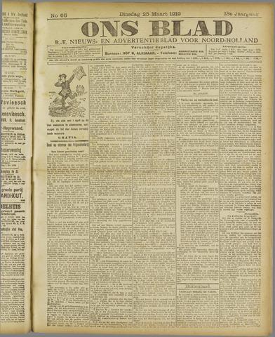 Ons Blad : katholiek nieuwsblad voor N-H 1919-03-25
