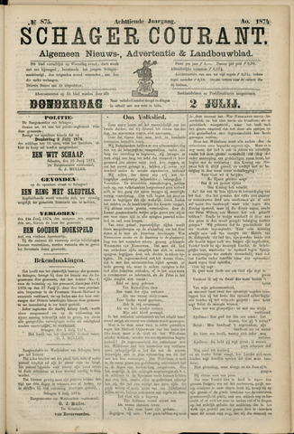 Schager Courant 1874-07-02