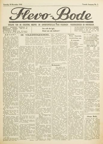 Flevo-bode: nieuwsblad voor Wieringen-Wieringermeer 1946-11-30