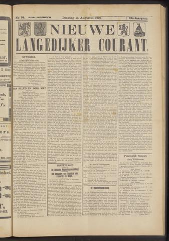 Nieuwe Langedijker Courant 1923-08-14
