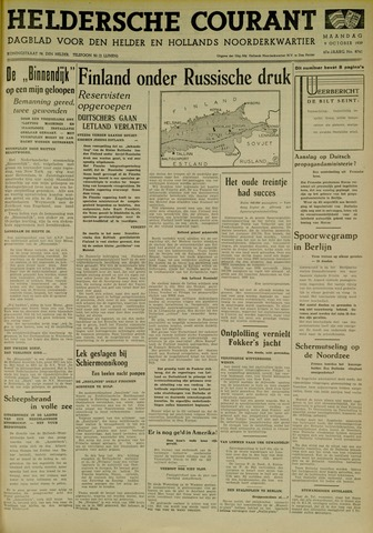 Heldersche Courant 1939-10-09