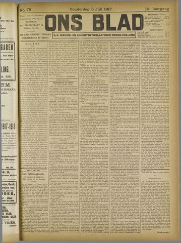Ons Blad : katholiek nieuwsblad voor N-H 1917-07-05