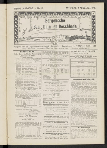 Bergensche bad-, duin- en boschbode 1919-08-02
