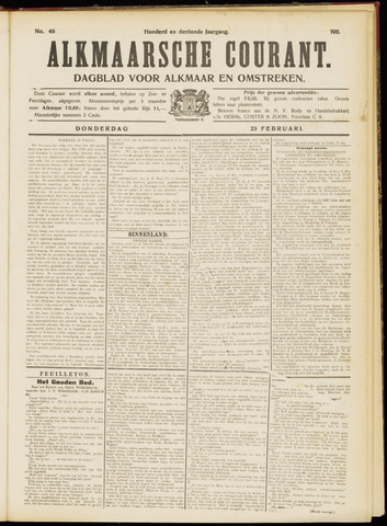 Alkmaarsche Courant 1911-02-23