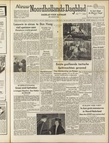 Nieuw Noordhollandsch Dagblad : voor Alkmaar en omgeving 1952-04-21