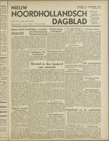 Nieuw Noordhollandsch Dagblad : voor Alkmaar en omgeving 1945-08-21