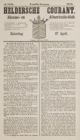 Heldersche Courant 1872-04-27