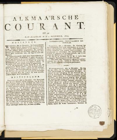 Alkmaarsche Courant 1815-12-04