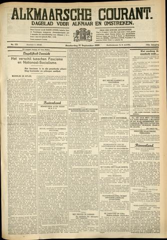 Alkmaarsche Courant 1933-09-21