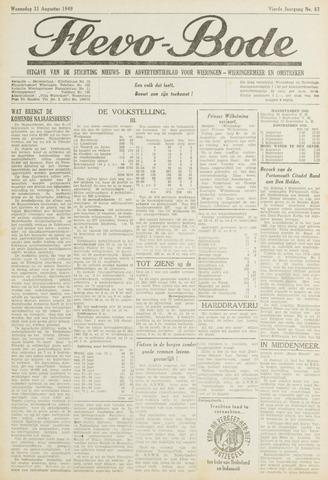 Flevo-bode: nieuwsblad voor Wieringen-Wieringermeer 1949-08-31