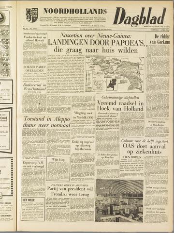 Noordhollands Dagblad : dagblad voor Alkmaar en omgeving 1962-04-04