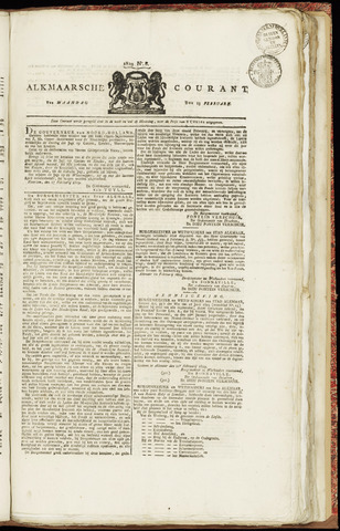 Alkmaarsche Courant 1829-02-23