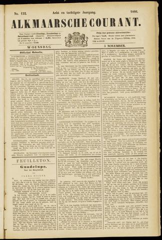 Alkmaarsche Courant 1886-11-03