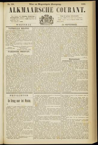 Alkmaarsche Courant 1892-09-14