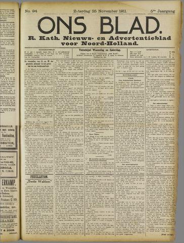 Ons Blad : katholiek nieuwsblad voor N-H 1911-11-25