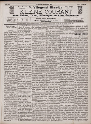 Vliegend blaadje : nieuws- en advertentiebode voor Den Helder 1904-02-24