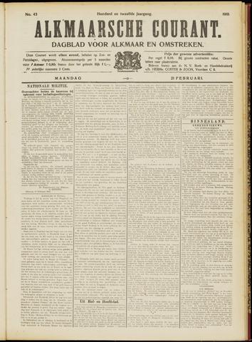 Alkmaarsche Courant 1910-02-21