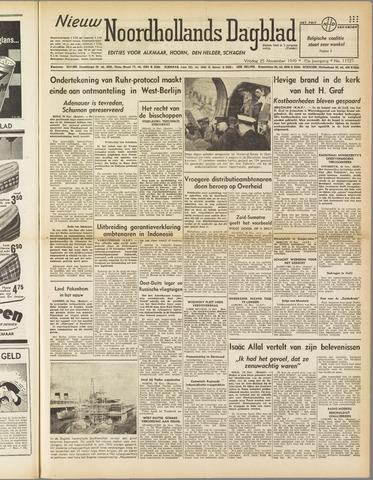 Nieuw Noordhollandsch Dagblad : voor Alkmaar en omgeving 1949-11-25
