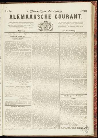 Alkmaarsche Courant 1863-02-22