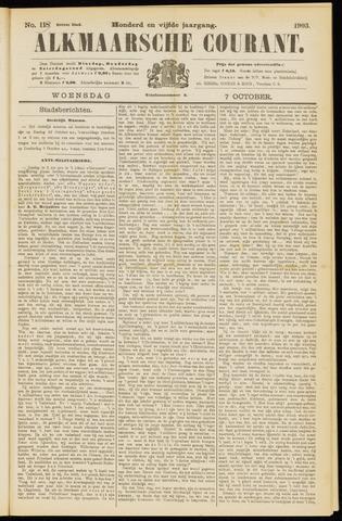 Alkmaarsche Courant 1903-10-07
