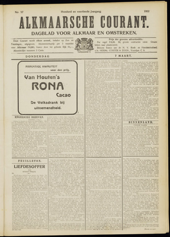 Alkmaarsche Courant 1912-03-07