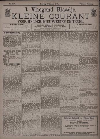 Vliegend blaadje : nieuws- en advertentiebode voor Den Helder 1887-01-29