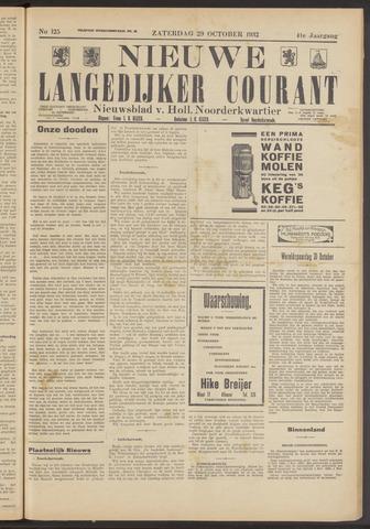 Nieuwe Langedijker Courant 1932-10-29