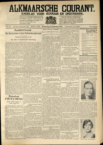 Alkmaarsche Courant 1934-09-13
