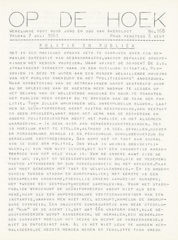 Op De Hoek, weekblad voor Akersloot 1961-07-07