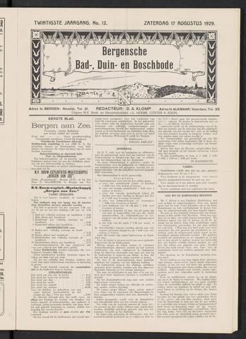 Bergensche bad-, duin- en boschbode 1929-08-17