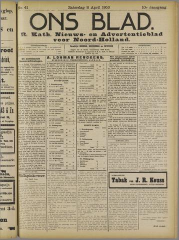 Ons Blad : katholiek nieuwsblad voor N-H 1916-04-08