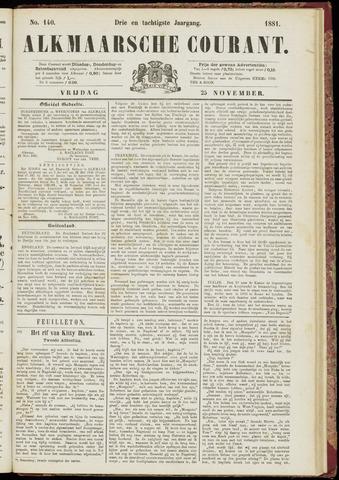 Alkmaarsche Courant 1881-11-25