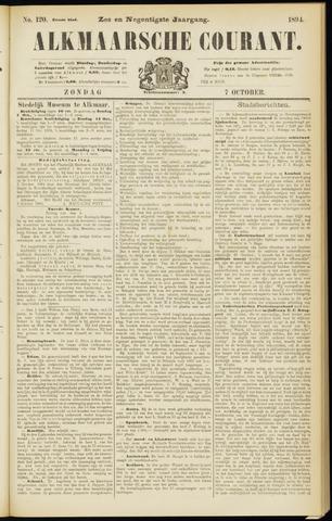 Alkmaarsche Courant 1894-10-07