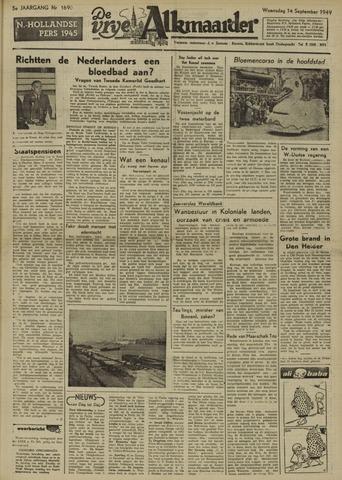 De Vrije Alkmaarder 1949-09-14