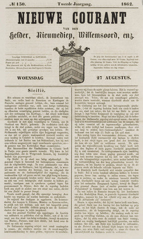 Nieuwe Courant van Den Helder 1862-08-27