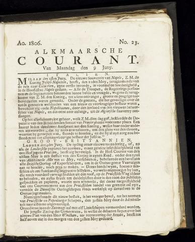 Alkmaarsche Courant 1806-06-09