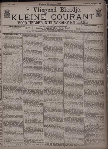 Vliegend blaadje : nieuws- en advertentiebode voor Den Helder 1887-09-28