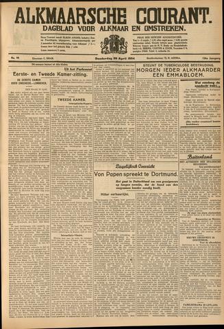 Alkmaarsche Courant 1934-04-26