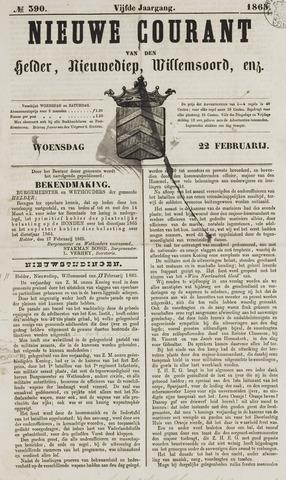 Nieuwe Courant van Den Helder 1865-02-22