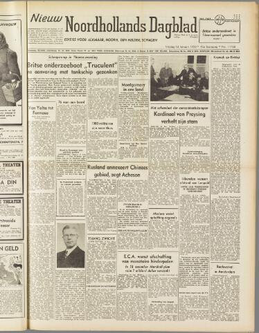 Nieuw Noordhollandsch Dagblad : voor Alkmaar en omgeving 1950-01-13