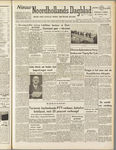 Nieuw Noordhollandsch Dagblad : voor Alkmaar en omgeving 1949-10-11