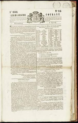 Alkmaarsche Courant 1843-04-03